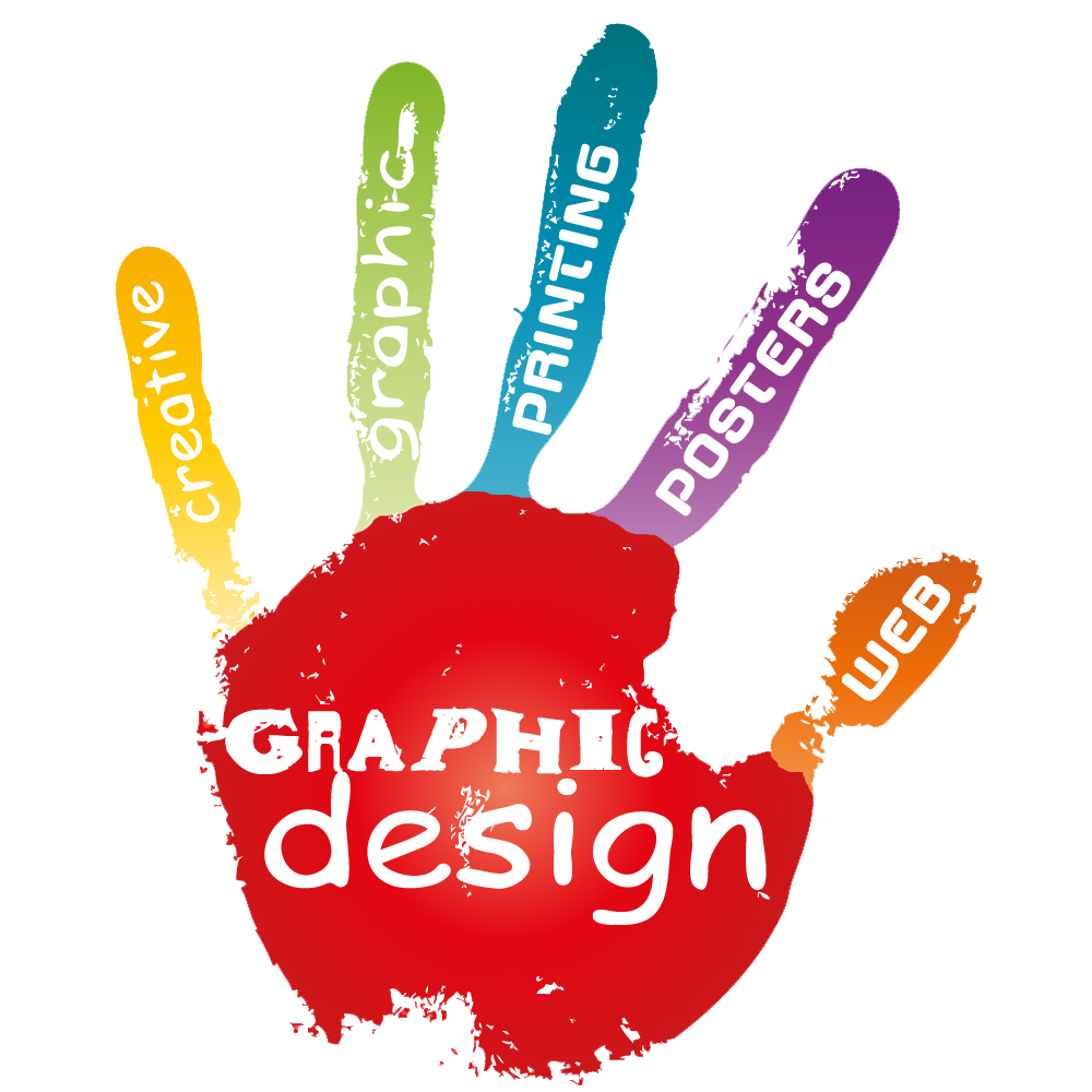 graphic design color hand